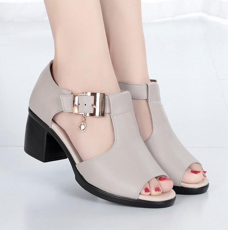 Giày sandal nữ cao gót Phong Cách Hàn Quốc S115