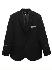 Áo blazer bigsize nam nữ cổ vest có túi, chữ thêu, hai lớp dày dặn, phía trong có lớp lót