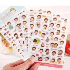 Bộ 6 tấm sticker trang trí nhật ký cuộc sống Momoi