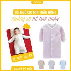 Túi Ngủ Cho Bé Cotton Trần Bông Ấm Áp, Dạng Áo (Ảnh Thật)