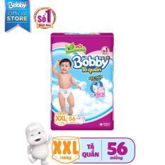 [MỚI] Tã quần Bobby (hương trà xanh) gói siêu siêu lớn XXL-56 miếng (>16 kg)