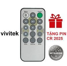 Remote điều khiển máy chiếu VIVITEK mẫu 1 projector (Tặng pin CR 2025)