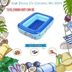 Bể Bơi Phao Hơi Cho Bé 2 Tầng 1m2 Khuyến Mãi Combo Bơm Điện + Kính Bơi + 100 Bóng