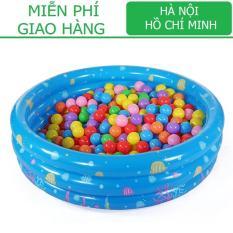 Nhà bóng tròn 3 tầng kiêm Bể bơi (90xCao30cm)/ Nhà chơi cho trẻ Bể bơi Phao bơi KamiToy vận chuyển