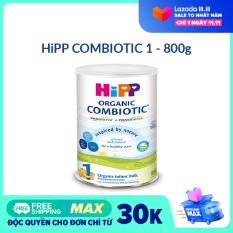 [FREESHIP] [CAM KẾT HSD CÒN ÍT NHẤT 8 THÁNG] Sữa bột DD HiPP 1 Combiotic Organic 800g- Hữu cơ, Non GMO, tăng sức đề kháng