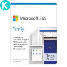 Phần mềm Microsoft 365 Family English APAC EM Subscr 1YR Medialess P6 (6GQ-01144) – Hàng Chính Hãng