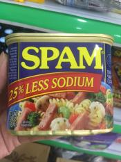 Thịt Hộp Spam 25% Less Sodium Mỹ 340g