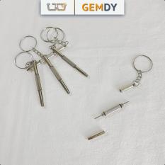Tua vít đa năng 3 trong 1 sửa chữa mắt kính, tua vít đồng hồ kèm móc khoá tiện lợi | GemDy