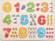 Bảng Núm Gỗ Xếp Hình Chủ Đề Số Đếm 0-9 Giúp Bé Học Tiếng Anh Gỗ Ván Dày Cao Cấp,Hình Mẫu Đẹp,Đầy Màu Sắc,An Toàn Cho Bé