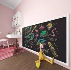 Bảng dán tường thông minh màu đen. Viết phấn. Kích thước 200 x 45cm