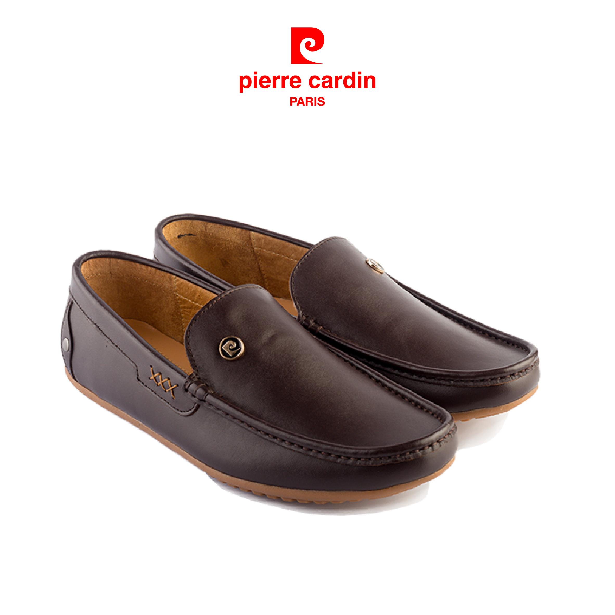Giày lười nam Pierre Cardin trơn da bò nhập khẩu Italia, đế xẻ rãnh chống trượt, thiết kế sang trọng, lịch lãm, lót da chống hôi chân – PCMFWL 084