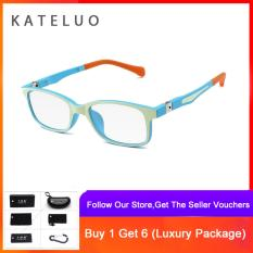 KATELUO TR90 Children Anti Computer Blue Laser laser Fatigue Radiation-resistant Kids Eyeglasses Glasses Frame 1021