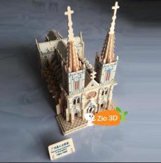 Đồ chơi lắp ráp gỗ 3D Mô hình Nhà Thờ Đức Bà