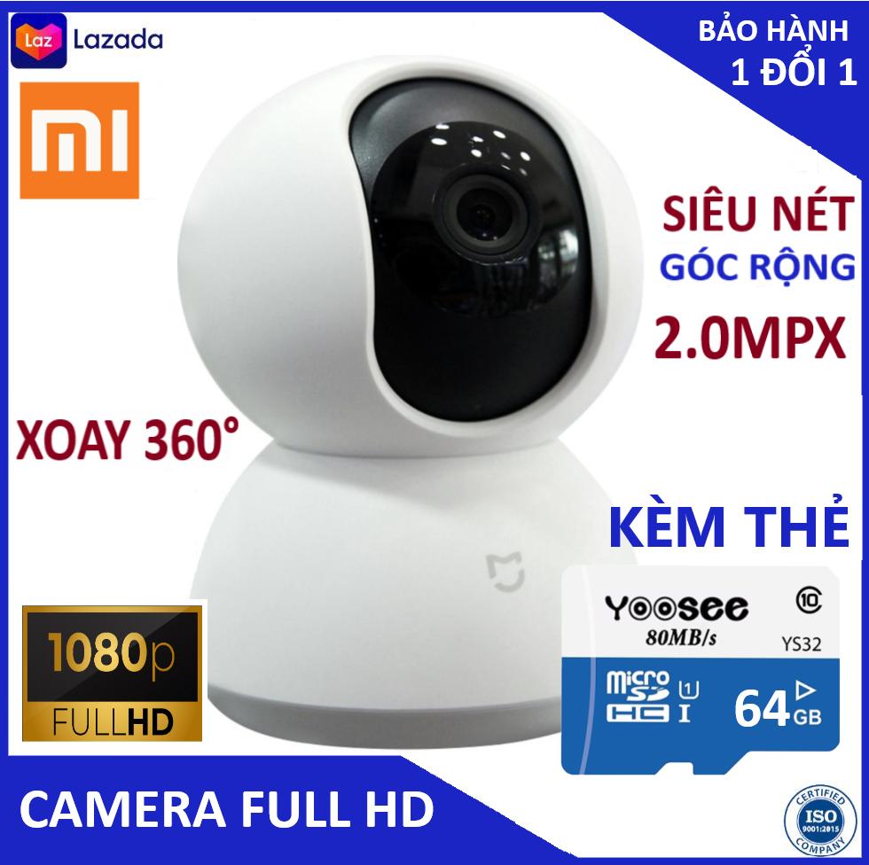 Camera – Camera wifi – Camera xiaomi xoay 360 độ tặng kèm củ nguồn, thẻ nhớ chính hãng class 10 , hiển thị 2.0 mpx, cảnh báo chuyển động Bảo hành 3 năm 1 đổi 1 trong 7 ngày