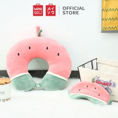Gối U + bịt mắt Fruit series travel pillow Miniso Watermelon/Strawberry