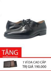 Giày công sở nam bộc dây da thật cao cấp L0103B[TẶNG VÍ DA CAO CẤP]