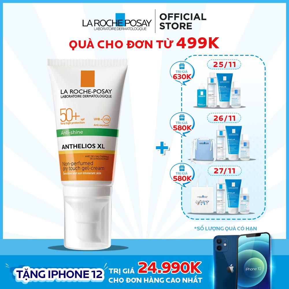Kem chống nắng cho da dầu giúp kiểm soát nhờn và chống tia UVB & UVA SPF 50+ La Roche Posay Anthelios Dry Touch 50ML