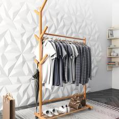 Cây/giàn treo quần áo gỗ có bánh 60cm