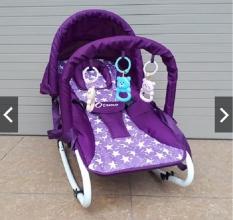 Ghế nhún/ ghế ăn bột bập bênh kiêm giường nằm có đồ chơi dạng chữ A cho bé