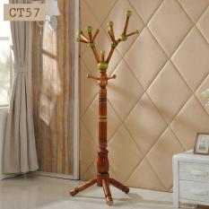 Cây treo quần áo kệ treo đồ gỗ tự nhiên cao cấp kiểu dáng độc đáo sang trọng CT67