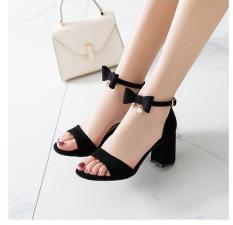 Giày cao gót vuông cổ nơ 1 hạt HP05
