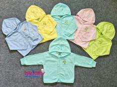 (3-15kg) Áo khoác nón Màu thun cotton cho bé