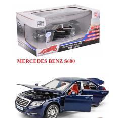 Ô tô Mercedes Benz S600 Mô hình xe bằng sắt tỉ lệ 1:32 chạy bằng cót có âm thanh và đèn mở các cửa xe đồ chơi trẻ em