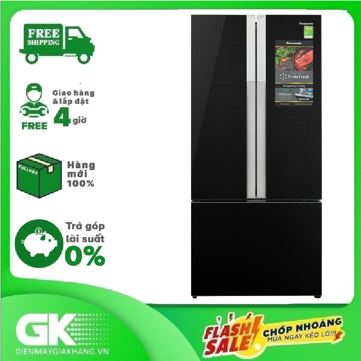 [Nhập mã EXCLUSIVE giảm thêm 10%] Tủ lạnh Panasonic Inverter 452 lít NR-CY558GKV2