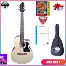 Đàn guitar Acoustic DVE70 (màu gỗ) – Đàn ghi-ta đệm hát Duy Guitar Store – Shop đàn guitar đệm hát giá tốt dành cho người mới tập – Uy tín