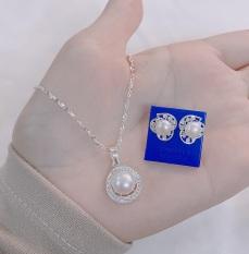 Bộ trang sức bạc ta mặt trai MS143