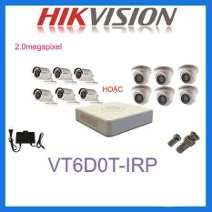 BỘ 6 CAMERA 2.0MP HIKVISION DS-2CE56D0T-IRP