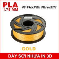 Dây sợi nhựa PLA in 3D 1.75mm 1Kg Gold