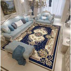 Thảm bali trải sàn mẫu hoàng gia xanh loai 1m6 x2m3