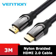 Dây cáp HDMI 2.0 bọc lưới cao cấp Vention hỗ trợ 4K60Hz dài 1.5-5M dùng cho Máy tính, Tivi, Máy chiếu… lõi đồng nguyên chất. Hàng chính hãng