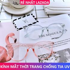 Kính cận thời trang mắt tròn gọng nhựa bảo vệ mắt chống tia UV đạt tiêu chuẩn ANSI của Hoa Kì – Kính mắt Unisex 024