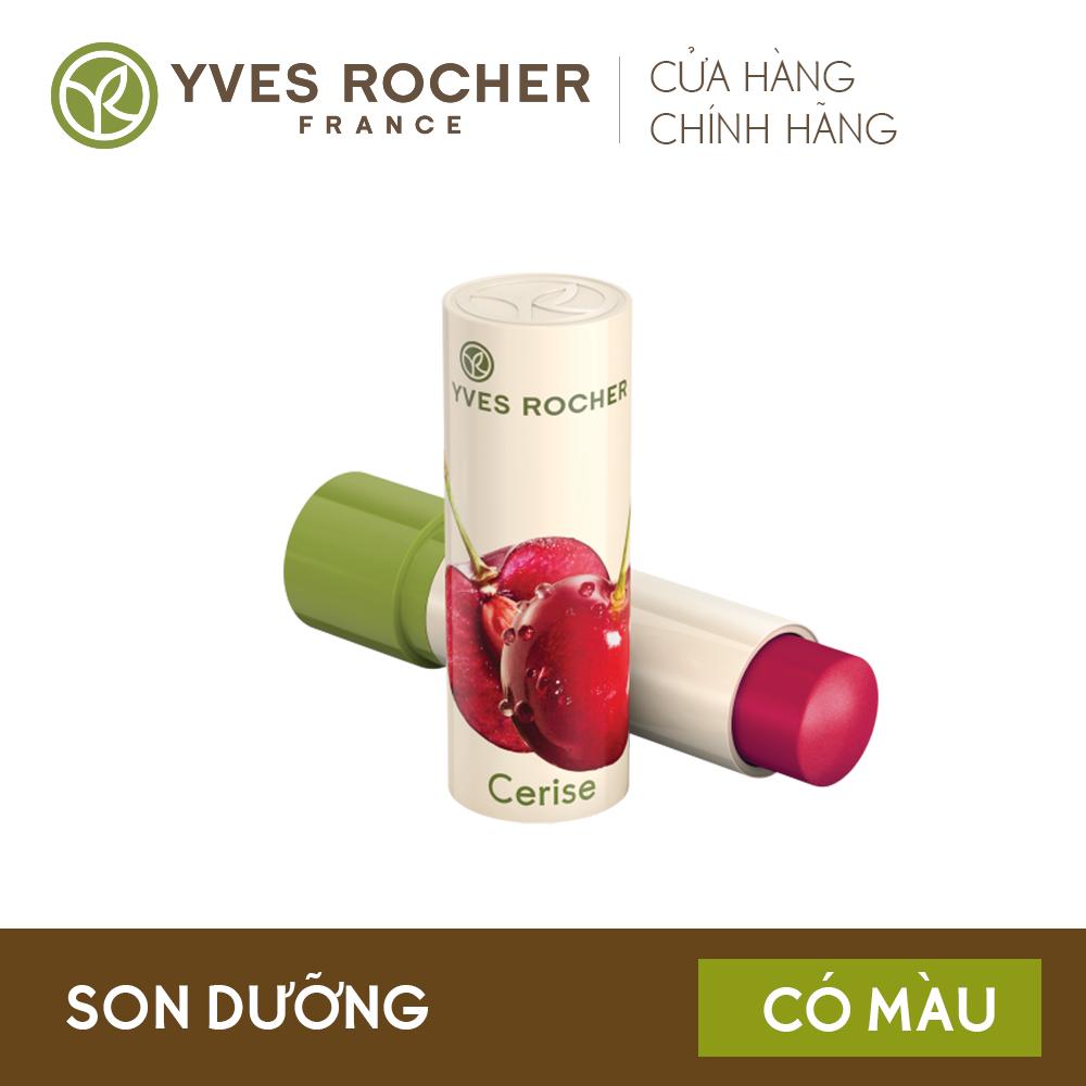 Son dưỡng môi YVES ROCHER LIP BALM NOURISHING CHERRY 4,8G