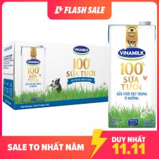 [FREESHIP TOÀN QUỐC]-Thùng 12 hộp Sữa tươi tiệt trùng Vinamilk 100% ít đường-Hộp giấy 1L