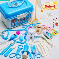 Bộ đồ chơi bác sĩ cho bé 33 chi tiết kèm hộp tiện lợi bằng nhựa nguyên sinh ABS cao cấp an toàn cho bé trai và bé gái Baby-S – SDC043