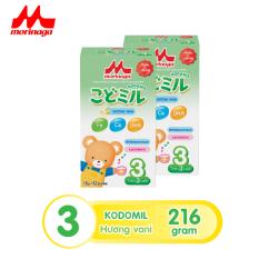 [9.9 – 11.9] Combo 2 hộp Sữa Morinaga Số 3 Kodomil 216g/ hộp Cho Bé Từ 3 Tuổi – Hương Vani Date T02/2022 (không tem đổi quà)