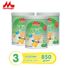 Combo 3 hộp Sữa Morinaga Số 3 Kodomil Cho Bé Từ 3 Tuổi – Hương Vani 850gr – HSD T12/2021 (không đai đổi quà)