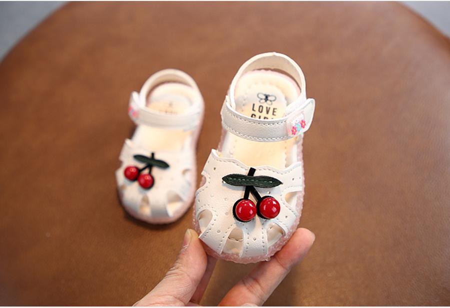 Giày búp bê cao cấp bé gái. Giày quả cherry cho bé gái. Giày sandal cho bé 12-36 tháng. Giày hoa anh đào cho bé. My little boss