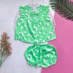 Combo 4 bộ đồ tôn (tole – lanh) 2 da loại 1 mềm, mịn, mát cho bé gái 4-9kg