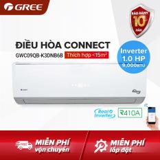 Điều hòa GREE- công nghệ Real Inverter- 1 HP (9.000 BTU) – CONNECT GWC09QB-K3DNB6B (Trắng) – Hàng phân phối chính hãng