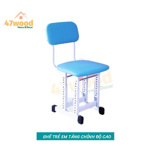 Ghế cho bé tăng chỉnh độ cao chân đôi , ghế học sinh tăng chỉnh độ cao