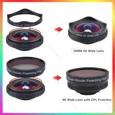 Lens điện thoại Apexel16mm 4K góc rộng 100 độ kèm kính phân cực CPL, chụp ảnh cực đẹp với tất cả điện thoại