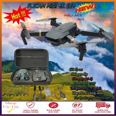 [Giá hủy diệt] Flycam giá rẻ, bộ Flycam điều khiển từ xa E59, Wifi FPV với camera 4K, gấp gọn kết nối trực tiếp điện thoại sắc nét, Flycam mini giá rẻ, máy bay điều khiển từ xa E59 4K cao cấp chống va đập, Hàng chĩnh hãng