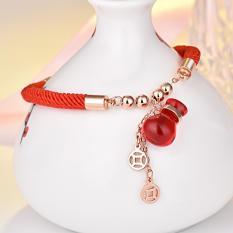 Vòng tay dây đỏ may mắn kèm mặt túi tiền đỏ TG-1036