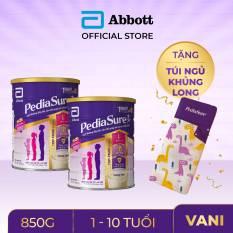 [GIẢM 40K CHO ĐƠN 1,2TR] Bộ 2 lon sữa bột Pediasure 850g hương Vani tặng Túi ngủ