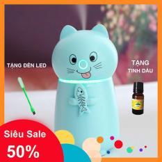 [Xả kho 1 ngày ] Máy tạo ẩm X105 cho phòng điều hòa, Máy khuếch tán tinh dầu mini , máy xông tinh dầu mèo cưng, tặng kèm tinh dầu + đèn led usb- [One Shopx]