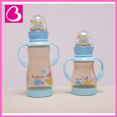 Bình sữa Nhật Bản Babuu Baby cổ chuẩn tay cầm kèm đồ chơi lục lạc cho bé
